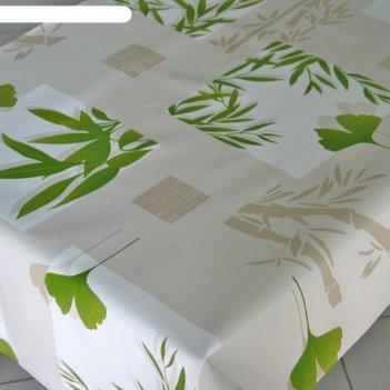 Клеенка столовая zen 140 см, рулон 20 п.м., 457/5 бамбук