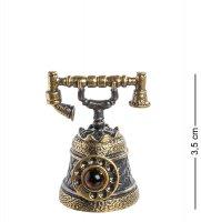 Am-578 фигурка телефон-колокольчик (латунь, янтарь)