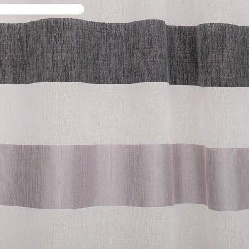 Тюль этель 145х280 медный восход (горизонтальная полоса) б/утяжелителя, 10