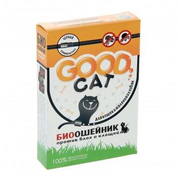 Биоошейник антипаразитарный good cat  для кошек от блох и клещей, черный,