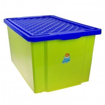 Ящик для игрушек большой 57 л лего, с крышкой, цвет фисташковый, крышка ми