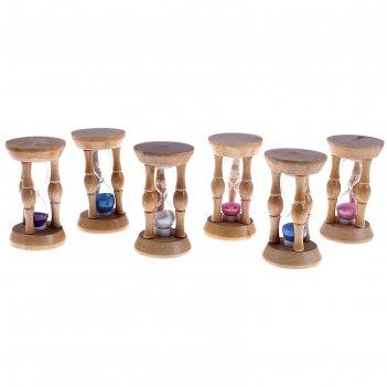 Часы песочные три колонны, цвета микс (10сек)