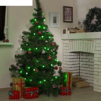 Гирлянда метраж улич. с насад. елка маленькая 5 м, темн.пр. led-40, контр.