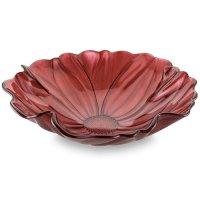 Чаша, 32 см, стекло, красная, серия magnolia, ivv, италия