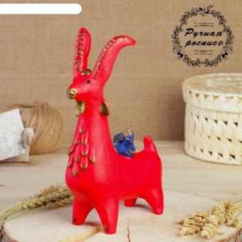 Абашевская игрушка козлик с птичкой