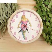 Часы банные бочонок добропаровъ. девушка
