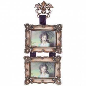 Фоторамка на 2 фото  коллекция рококо 22,5*3,3*48,9 см