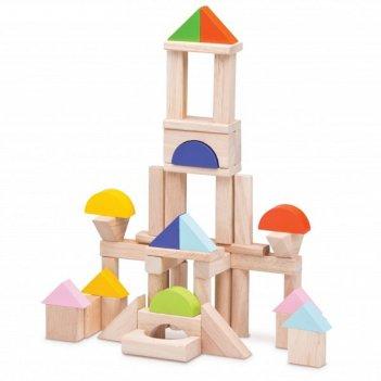 Игровой набор деревянных кубиков wonderworld, 50 шт