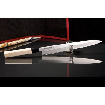 Нож кухонный поварской янагиба samura okinawa so0111 лезвие 275 мм