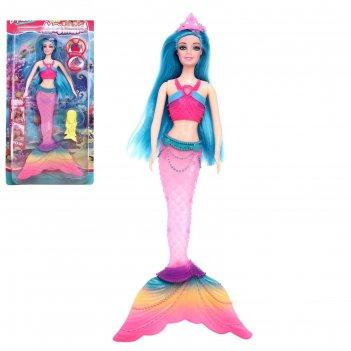 Кукла сказочная русалочка свет, звук