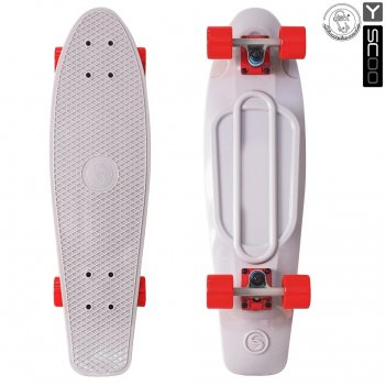 402-gr скейтборд y-scoo big fishskateboard 27″ винил 68,6х19 с сумко