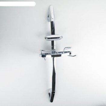 Полка на штанге с держателем для душа, 17х7,5х80 см