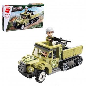 Конструктор военная зона штурмовой грузовик, 2 минифигуры и 113 деталей