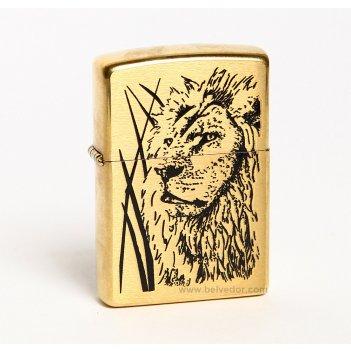 204b_proud_lion зажигалка zippo