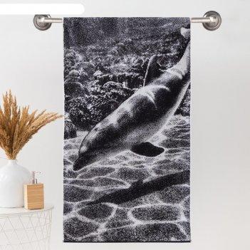 Полотенце махровое этель чб дельфин 70*130 см, 100% хл, 420 гр/м2