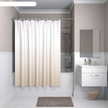 Штора для ванной комнаты iddis b02p218i11, 200x180 см, полиэстер
