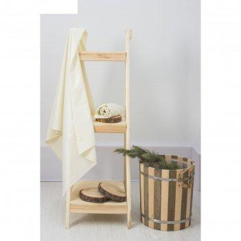 Полотенце вафельное банное 80х150 см, цв. молочный, 100%хл, 230 гр/м2