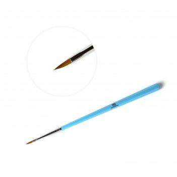 Кисть для рисования tnl тонкая голубая