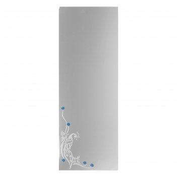 Зеркало «павлин», с пескоструйной графикой и фьюзингом, настенное, 40x110