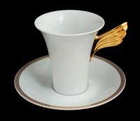 Пара кофейная медальон меандр(чашка180мл.+блюдце)