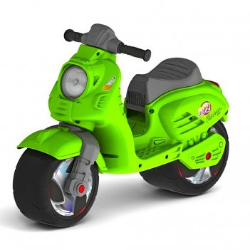 Ор502 каталка-мотоцикл беговел скутер цвет зеленый