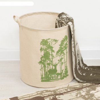 Корзинка текстильная лес 35 х 40 см