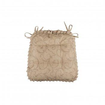 Подушка на стул curls, размер 42 x 42 см, с рюшами