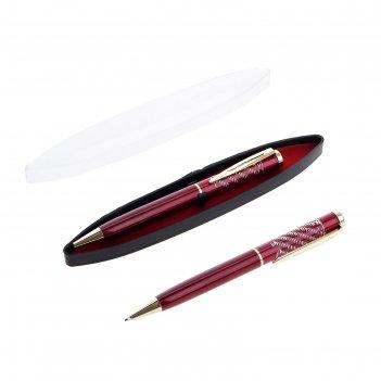 Ручка шариковая подарочная в пластиковом футляре поворотная фрэнсис бордо
