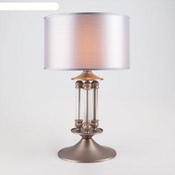 Настольная лампа adagio 40вт e14 никель, прозрачный