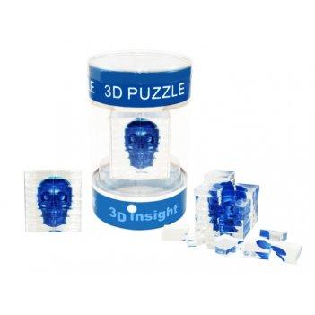 44256 головоломка 3d insight череп синий