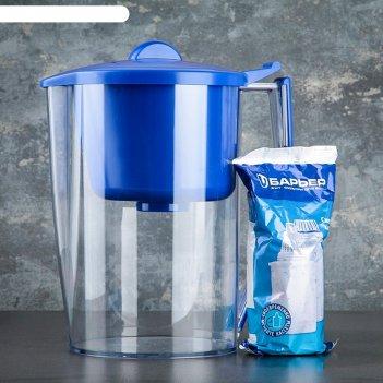 Фильтр-кувшин 3,2 л барьер-классик, цвет синий