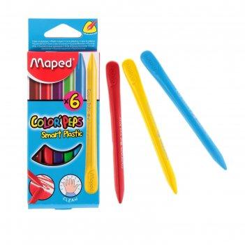 Мелки пластиковые 6цв colorpeps 862010