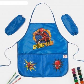 Набор детский для творчества человек-паук, фартук 45 х 49 см и нарукавники