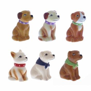 Фигурка декоративная собака, l6w4,5h7,5см, 6 в.