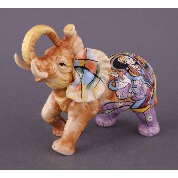 Фигурка веселый слон длина=17 см высота=14,5 см ...