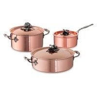 Набор посуды 3 предмета: кастрюля 3,5 л, ковш 1,6 л, сотейни