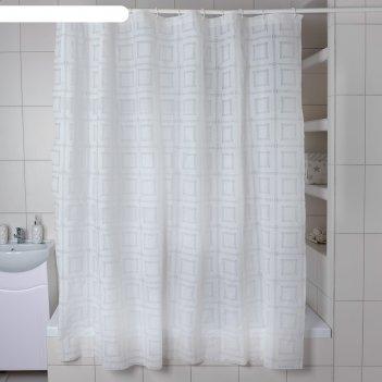 Штора для ванной 180x180 см квадро, eva