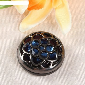 Пуговица декоративная цветок, d=38см, цвет чёрный