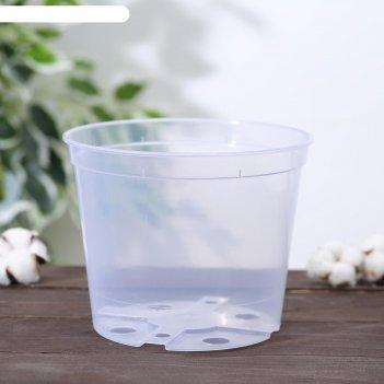 Горшок для орхидей 0,55 л, цвет прозрачный