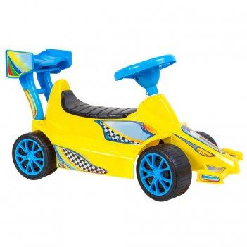 Ор894 каталка гоночный спорткар super sport 1 цвет желтый