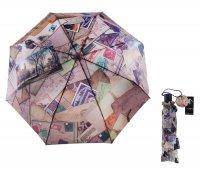 Зонт женский flioraj конверты, автомат, 3 сложения, d = 58, 8 карбоновых с