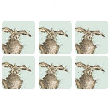 Набор подставок под горячее pimpernel забавная фауна.кролик 10х10см, 6шт