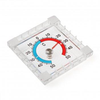 Термометр механический  luazon, уличный, квадратный, 8 x 8 см