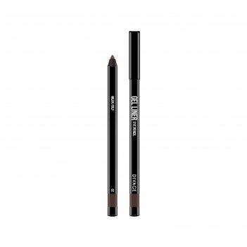 Гелевый карандаш для глаз divage, gel liner, цвет № 02