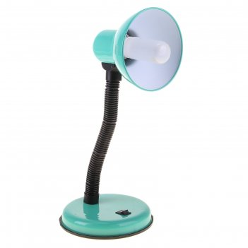 Настольная лампа с кнопкой бирюза