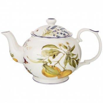 Чайник прованс лимоны 1000 мл (кор=12шт.)