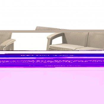 Диван corfu love seat, 2-местный, 130 x 70 x 80 см, искусственный ротанг,
