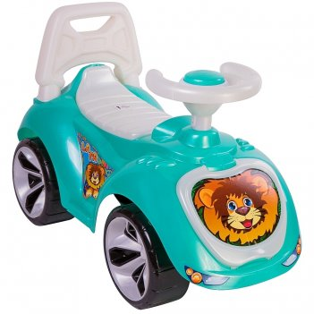 Ор758 каталка машинка мишка (lapa) цвет бирюзовый