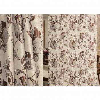 Ткань портьерная, ширина 280 см, блэкаут