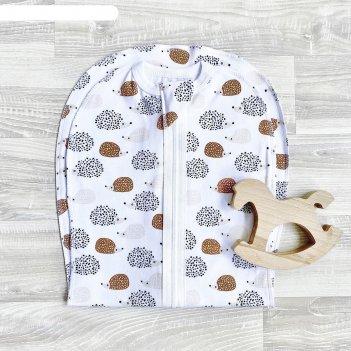 Пелёнка-кокон «ёжики», размер 9-12 кг